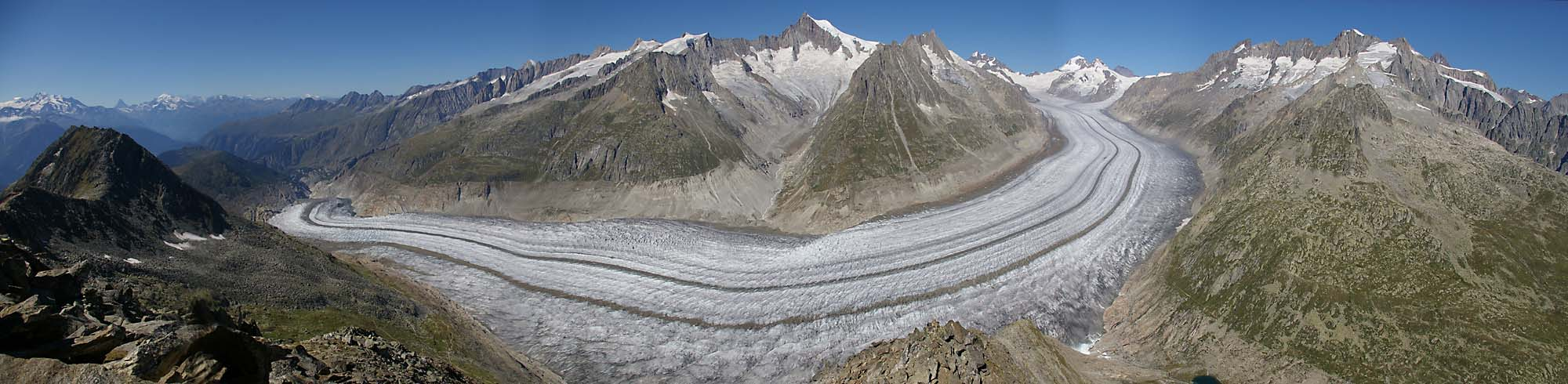 Panorama of the Aletsch Glacier